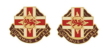 Army Crest: 324th Combat Support Hospital - Curamus Etiam- pair