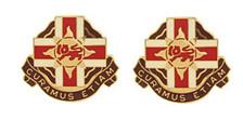 Army Crest: 324th Combat Support Hospital - Curamus Etiam- pair