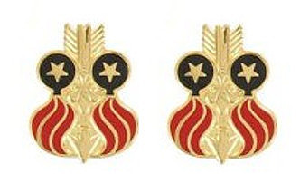 Army Crest: 332nd Ordnance Battalion- pair