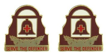 Army Crest: 349th General Hospital - Serve The Defender- pair
