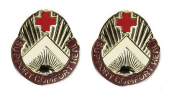 Army Crest: 352nd Combat Support Hospital - Support Comfort Heal- pair