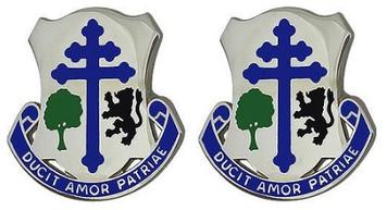 Army Crest: 361st Regiment Brigade Combat Team - Ducit Amor Patriae- pair