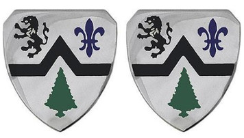 Army Crest: 364th Regiment- pair