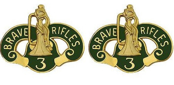 Army Crest: 3rd Armor Cavalry - Brave Rifle- pair