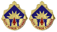 Army Crest: 40th Infantry Division - Duty Honor Courage- pair