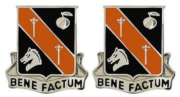 Army Crest: 40th Signal Battalion - Bene Factum- pair