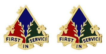 Army Crest: 419th Quartermaster - First in Service- pair