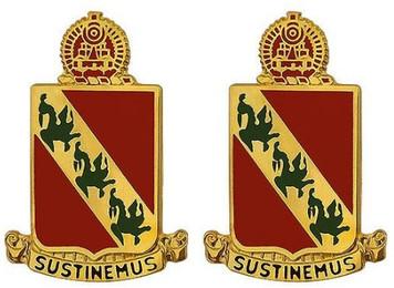 Army Crest: 43rd Air Defense Artillery – Sustinemus- pair