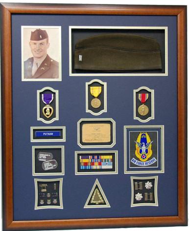 World War II Purple Heart Shadow Box Display
