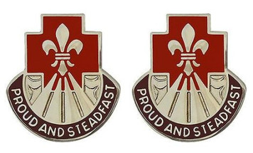 Army Crest: 62nd Medical Group - Proud and Steadfast- pair