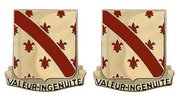 Army Crest: 70th Engineer Battalion – Valeur-Ingenuite- pair