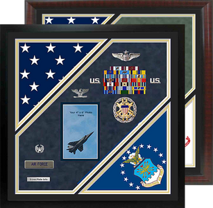 "22"" x 22"" Double Flag Shadow Box"