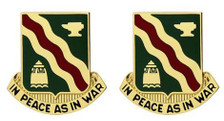 Army Crest: 728th Military Police Battalion - In Peace as In War- pair