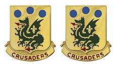 Army Crest: 72nd Armor – Crusaders- pair