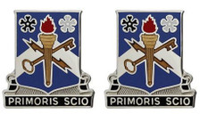 Army Crest: 741st Military Intelligence - Primoris Scio- pair