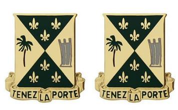 Army Crest: 759th Military Police Battalion - Tenez La Porte- pair