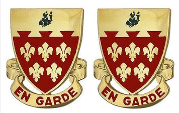 Army Crest: 77th Field Artillery Regiment - En Garde- pair