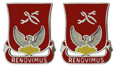 Army Crest: 80th Ordnance Battalion – Renovimus- pair