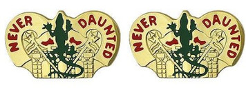Army Crest: 84th Engineer Battalion - Never Daunted- pair