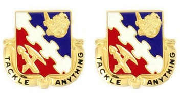 Army Crest: 863rd Engineer Battalion - Tackle Anything- pair