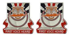 Army Crest: 86th Signal Battalion - First Voice Heard- pair