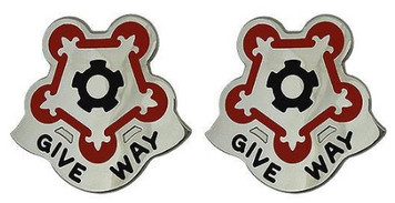 Army Crest: 88th Support Battalion - Give Way- pair