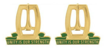 Army Crest: 96th Military Police Battalion - Unity is Our Strength- pair