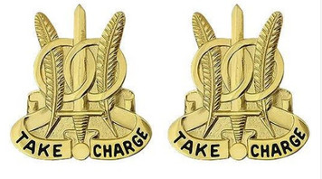 Army Crest: 97th Military Police Battalion - Take Charge- pair