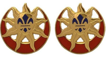 Army Crest: 9th Infantry Division- pair
