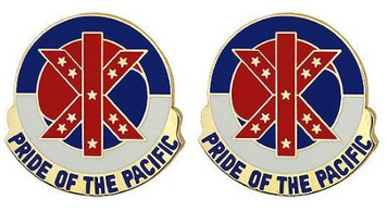 Army Crest: 9th Regional Support Command - Pride of The Pacific- pair