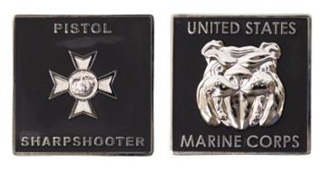 "Marine Corps Coin: Pistol Sharpshooter 1.75"""