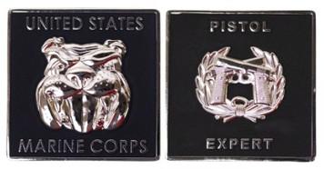 "Marine Corps Coin: Pistol Expert 1.75"""
