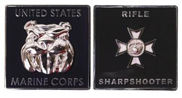 "Marine Corps Coin: Rifle Sharpshooter 1.75"""
