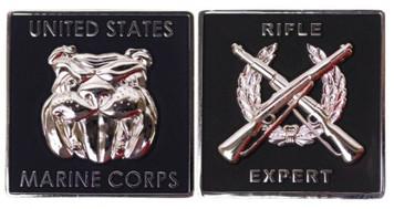 "Marine Corps Coin: Rifle Expert 1.75"""
