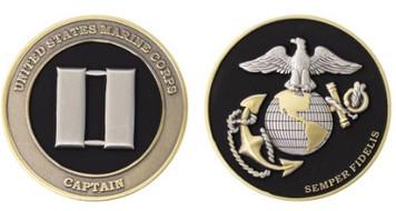 "Marine Corps Coin: Captain 1.75"""