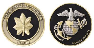 """Marine Corps Coin: Major 1.75"""""""