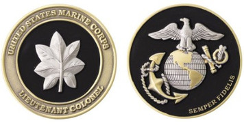 """Marine Corps Coin: Lieutenant Colonel 1.75"""""""