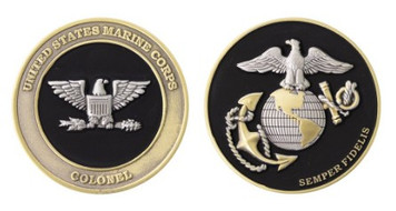 "Marine Corps Coin: Colonel 1.75"""