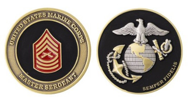 """Marine Corps Coin: Master Sergeant 1.75"""""""
