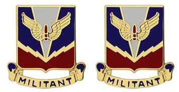 Army Crest: Air Defense School – Militant- pair
