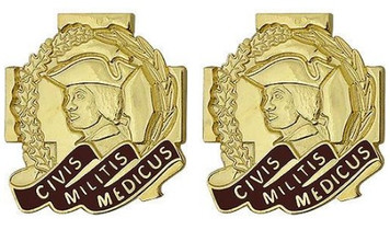 Army Crest: Army Reserve Medical Command - Civis Militis Medic- pair