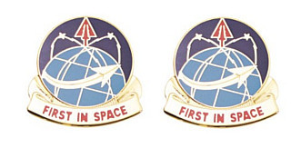 Army Crest: Army Space Command - First In Space- pair