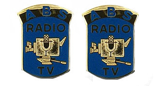 Army Crest: Broadcasting Service - ABS Radio TV- pair