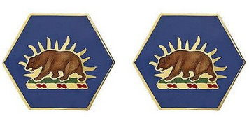 Army Crest: California Army National Guard: ARNG CA- pair