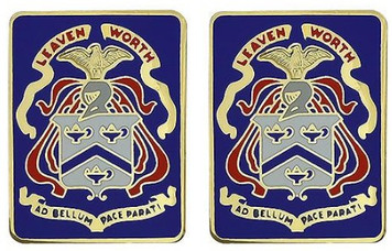 Army Crest: Command and General Staff College Levenworth- pair