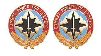 Army Crest: Communications Electronics Command CECOM - Combat Power- pair