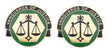 Army Crest: Corrections Command - Vanguard of Justice- pair