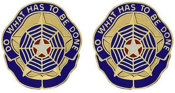 Army Crest: Criminal Investigation Command - Do What Has to be Done- pair