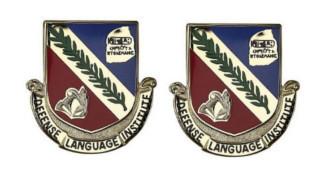 Army Crest: Defense Language Institute Foreign Language Center- pair