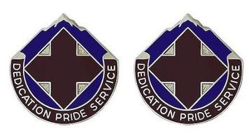 Army Crest: Dental Fort Carson - Dedication Pride Service- pair